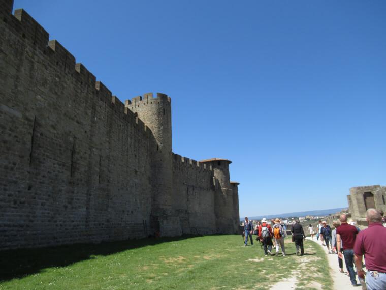 カルカソンヌ世界遺産の現地ツアーお城周囲75分体験してみてた