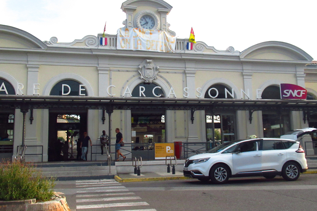 カルカソンヌ駅から歴史的要塞都市へ市バス1€で行く方法